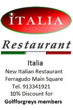 ITALIA - New Italian Restaurant, Ferragudo main Square - Tlmvl : 913341921 - 10% Discount for Golfforgreys Members